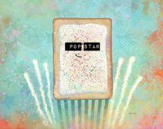 Pop Star by Jason Kotecki #poptart #rockstar http://escapeadulthood.com/buyart