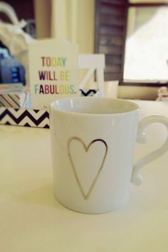 my gold heart mug from @Elise West elm (taken with my new @Nakia Busch USA lumia 1020)
