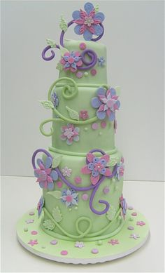 kids party cakes, spring colors, decorative cakes, flower cakes, garden cakes, wedding cakes, purple cakes, 3d cakes, birthday cakes