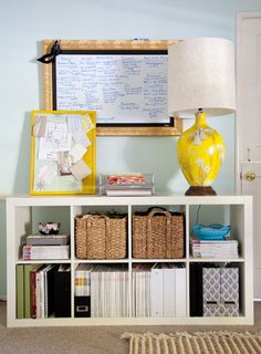 office organization, office storage, ikea expedit, bookcas, shelv, homes, apartments, office workspace, home offices