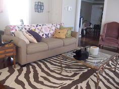 diy painted dropcloth rug