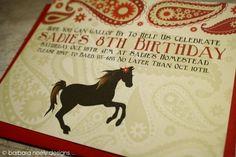 Pony party invitation.