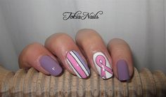 Cancer awareness by TokiaNails - Nail Art Gallery nailartgallery.nailsmag.com by Nails Magazine www.nailsmag.com #nailart