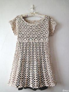 Short Dress or Long Top free crochet graph pattern
