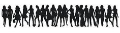 Girls Silhouette - SVG Freebie