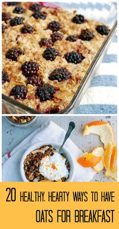 20 Healthy Breakfast Recipes Featuring Fruit and Oats!  Organize, save, and share all of your recipes from one location with @RecipeTin App! Find out more here: http://www.recipetinapp.com/