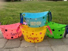 Personalized oval tub  Easter basket dollar tree buckets