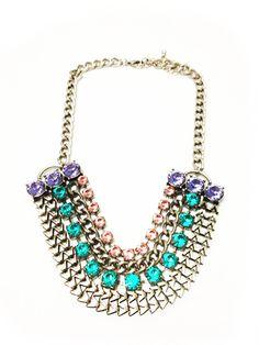 Pastel Crystal Necklace – Glamzelle