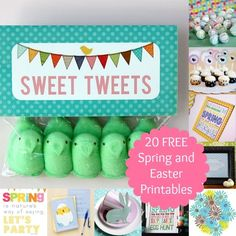 20 FREE Spring and Easter printables.