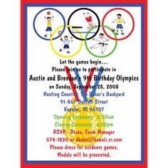 Olympic birthday invitations 28 images olympics birthday olympic birthday invitations olympic theme birthday ideas on themed stopboris Choice Image