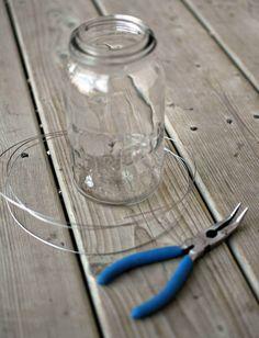 How to make hanging mason jar decorations