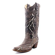 Cowgirl Clad Company - Corral Brown Lightning Cowgirl Boots A1061, $260.00 (http://www.cowgirlclad.com/corral-brown-lightning-cowgirl-boots-a1061/)