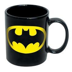 Amazon.com: Batman Logo Black Mug: Home & Kitchen