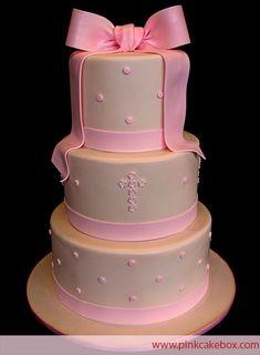 Baptism Cake by Pink Cake Box in Denville, NJ.  More photos at http://blog.pinkcakebox.com/baptism-cake-2-2007-10-13.htm  #cakes