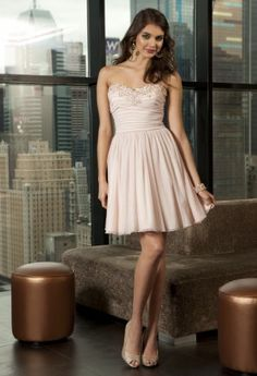 Short Dresses - Strapless Tulle Prom Dress from Camille La Vie and Group USA