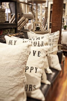 love these sugarboo pillows  foundbydomesticbliss.blogspot.com