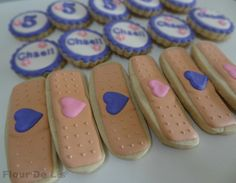 Bandage Cookies.  Gonna need this for the Doc bday party!