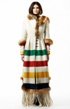 Hudson Bay Blanket Coat- a modern interpretation