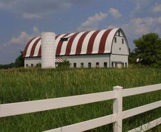 Striped Roof Barn