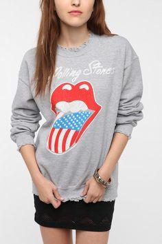 Rolling Stones Rock Band Sweatshirt  #UrbanOutfitters