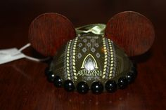 New Disney Aulani Green/Brown Kukui Nut Mouse Ears Hat Ornament Hawaii Exclusive