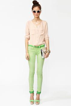 Day Glo Skinny Jeans