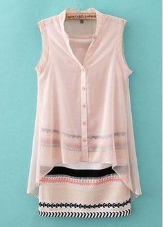 Mandarin Collar Sleeveless Straight Dress for Summer