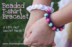 T-shirt bracelets - a fun project idea!