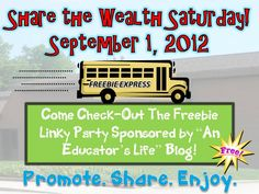 An Educator's Life: Share the Wealth- September 1, 2012