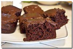 Easy Chocolate Cherry Cake....Devil's food cake mix, cherry pie filling, eggs, and vanilla.