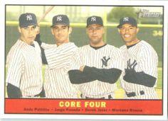 2010 Topps Heritage Baseball Card # 411 Derek Jeter - Pettitte - Posada - Rivera (Core Four) New York Yankees - MLB Trading Card by Topps. $7.95. 2010 Topps Heritage Baseball Card # 411 Derek Jeter - Pettitte - Posada - Rivera (Core Four) New York Yankees - MLB Trading Card