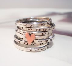 Love these personalized rings