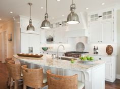 Suzie: Richard Bubnowski Design - Amazing kitchen with white kitchen cabinets with granite ...