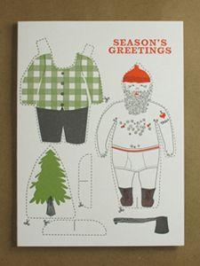 Lumberjack Cut Out Card