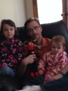 Charlie Stamper with his daughters and his Phoenix lovingly gifted to him by Nancy Neary of Omaha, Nebraska. $23.99 #cancer #SMACancer #beatcancer