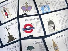 Table Names - Places to possibly go for honeymoon and have the tables vote? wedding cards, table names, london wedding, name cards, wedding invitations, wedding planners, table numbers, unique weddings, reception tables