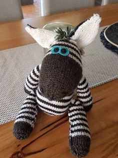 Ziggy Zebra toy knit