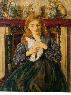 Rebecca Solomon, The Wounded Dove, watercolor, 1866