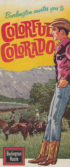 Colorado #travel #poster (1960s)