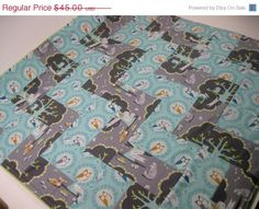 Blanket -  Michael Miller Les Amis Collection by Patty Sloniger -via Etsy.