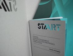 Graphic identity of an investment fund   created by the Community of Belgium French   aimed to support financially cultural enterprises   in their development. By Pam and Jenny #START #pamandjenny #graphicidentity #finishing #diecut