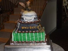 Thanks to Wendy Von Hoven Verbest for sending this picture of her son's grooms cake! #Saints #NOLA #Cake #GroomsCake