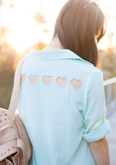 hearts cut out blouse