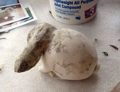 Use joint compound to smooth out paper mache?