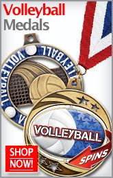 Volleyball Medals are Great for Coaches and Players. Award Yours Today with Crown's Volleyball Medals! http://www.crownawards.com/StoreFront/Volleyball.ALL.Medalsqz1Dogtags.srch