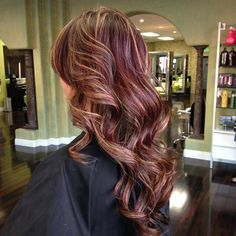 Rich red and strawberry blonde highlights