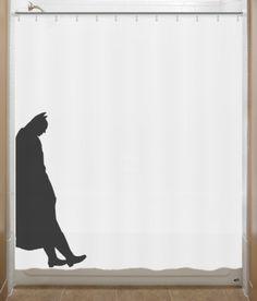 Leaning Batman Shower Curtain bathroom decor by SHOWERCURTAINS
