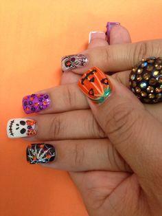 holiday nail, nail art, halloween nails
