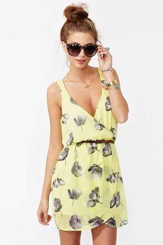wrap dresses, summer dresses, blue flowers, the dress, beauti, yellow, chiffon dresses, blues, vintage clothing