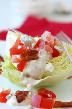 wedge salad with blu